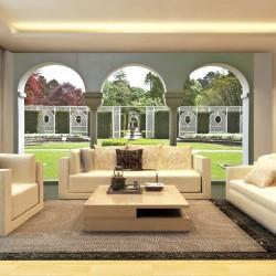 Wallpapers beautiful garden with columns