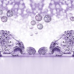 Wallpapers mural composition with diamonds in 3 colors