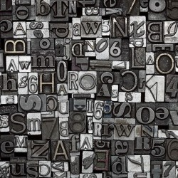 Wall murals concrete letters art wall gray black