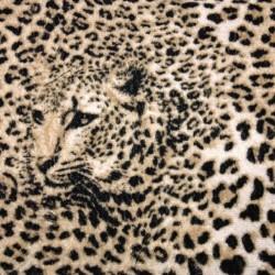 Wallpapers mural leopard texture in beige-brown