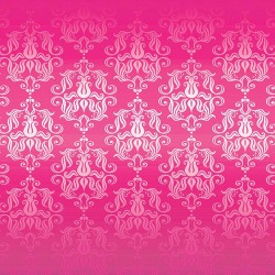 Wall mural classical ornaments in magenta