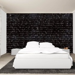 Wallpapers mural art lettering in black and white