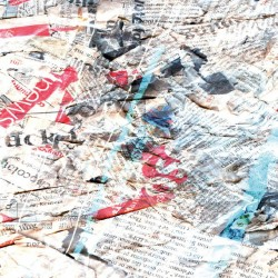 Wall mural art panel old newspapers in 2 colors