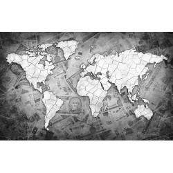 Wallpapers modern design map of the world in black and white