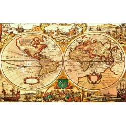 wallpapers ancient map of the world orange shade
