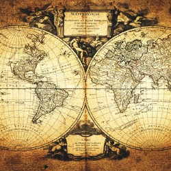 Wallpapers mural old world map 2