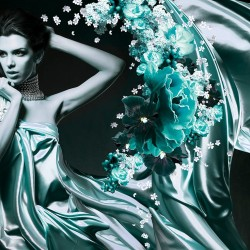 Wallpapers Art model woman abstract background in 2 colors