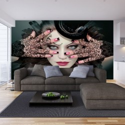 Photo mural art woman model
