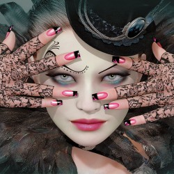 Photo mural art woman model