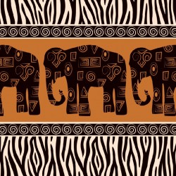 Wallpapers mural art wall with three elephants in 2 colors