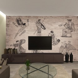 Wallpapers mural  ancient roman fresco painting