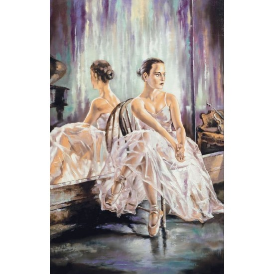 Photo mural art panel with a ballerina