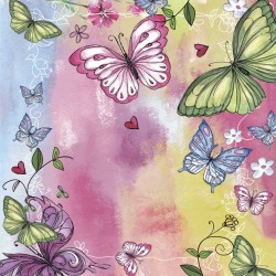 Wallpapers colorful butterflies painted art background
