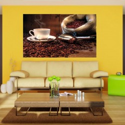 Wallpapers composition with coffee on wooden background