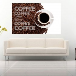 Photo mural Coffee beans composition and  inscriptions 2