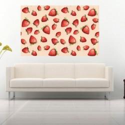 Photo mural painted strawberries