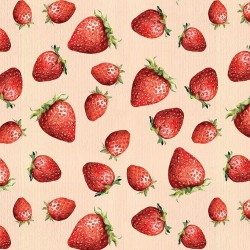 Photo mural painted strawberries
