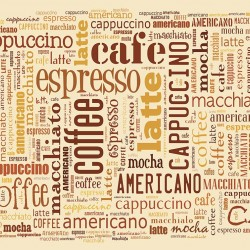Photo mural lettering with coffee mix