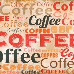 Wall murals art panel with coffee lettering  2 color