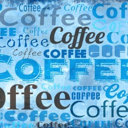 Wall murals art panel with coffee lettering in 2 color