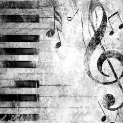 Wallpapers art piano with note in 2 colors