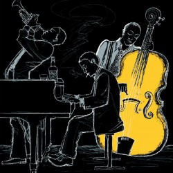 Wallpapers band with piano and violoncello