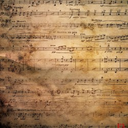 Wallpapers mural musical notes on old paper