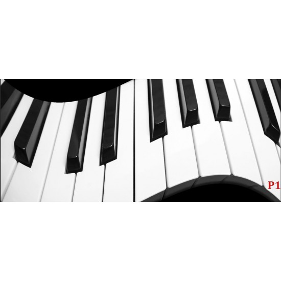 Photo mural abstraction piano in black and white