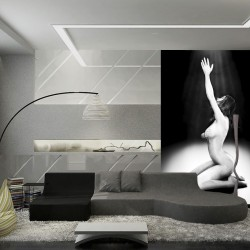 Wallpapers mural a photo of a naked woman's body
