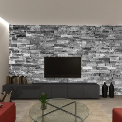 Photo mural  stones texture imitation in light gray