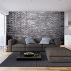 Photo mural imitation brick wall standard grey bricks