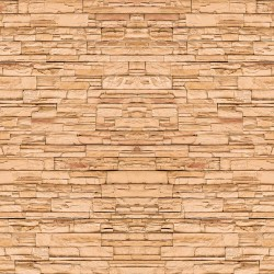 Wallpaper Mural imitation stone natural orange trim