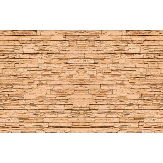 Wallpaper Mural imitation stone natural orange trim