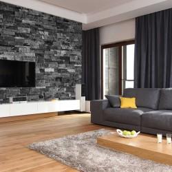 Photo mural imitation of dark bricks