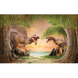 wallcoverings dinosaurs background beach