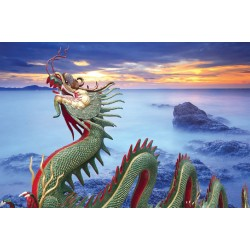 Wallpapers wonderful dragon with sunset