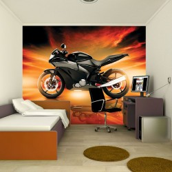 Wall mural effective motor sports