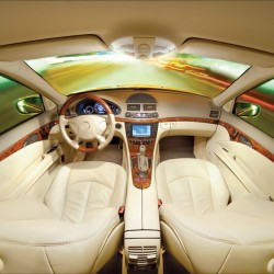 Wall mural leather car interior
