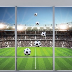 Wallpapers mural Imitation window color stadium in 2 variants