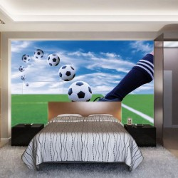 Wallpapers mural football boots and a ball