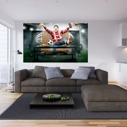 Wallpapers mural football fan in red