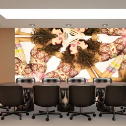 Wall murals fashion model woman kaleidoscope