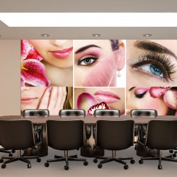 Wall murals fashion collage of beauty salons