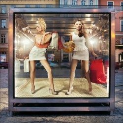 Photo mural fashion models women in shop window