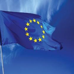 Wall murals European flag in blue