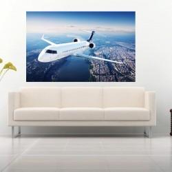 Wall murals airplane in flight panorama