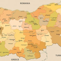 Photo mural latin Bulgarian map