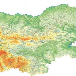 Wall mural Bulgarian road map