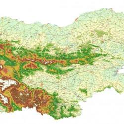 Wall mural detailed road map of Bulgaria