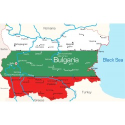 Wall mural Bulgarian map with tricolor